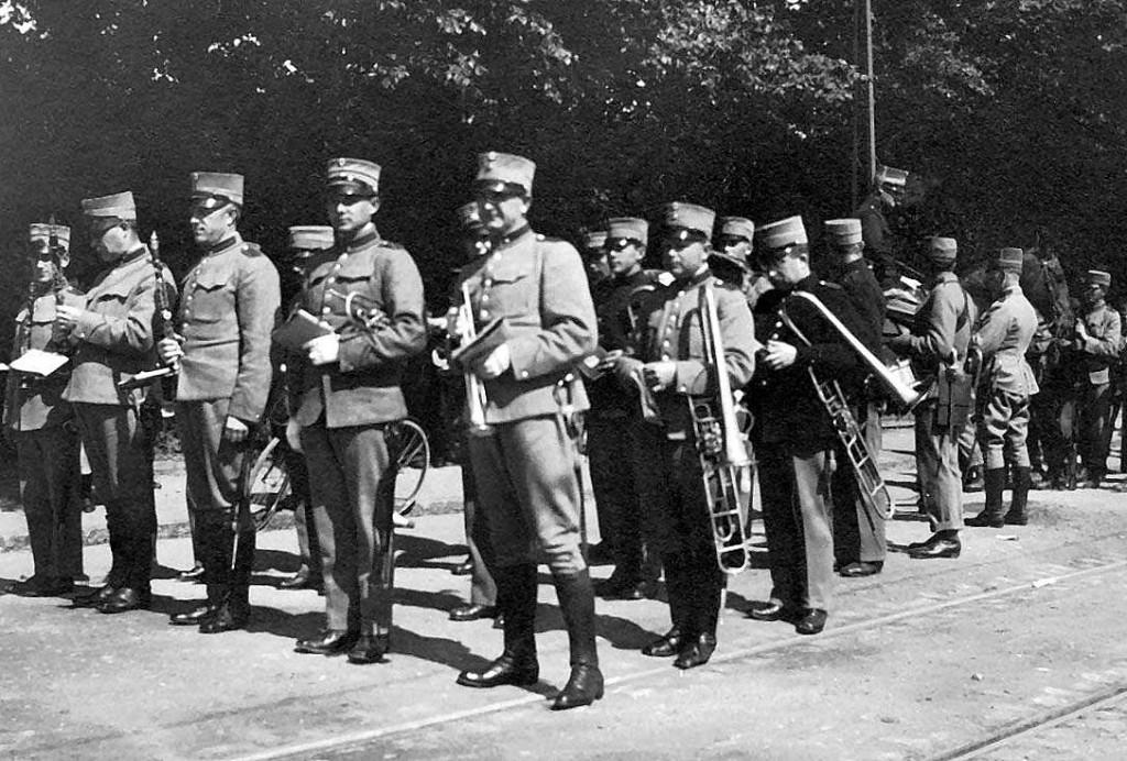 6. Regiments Musikkorps, Odense 1908 - med klarinetter.